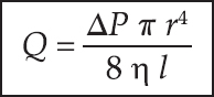 Figure 2: Showing Poiseuille equation