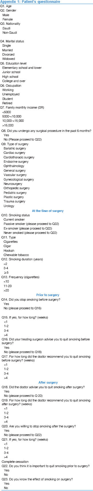 Behavior, knowledge, and attitude of surgeons and patients
